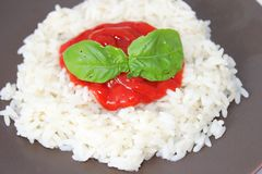 Rice with tomato sauce Royalty Free Stock Photo