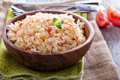 Rice with tomatoes and onions Royalty Free Stock Photo