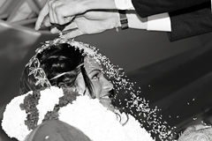 Rice Toss - Hindu Wedding Stock Images