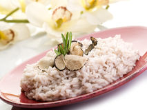 Rice with truffle Royalty Free Stock Photo
