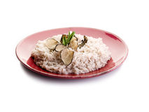 Rice with truffle Stock Image