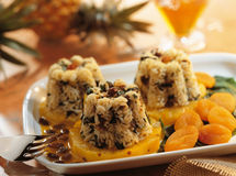 Rice tumblers with pineapple. Food, gastronomy, cuisine,cookery Stock Photography