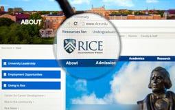 Rice University sida Royaltyfri Bild