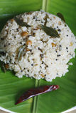 Rice upma is delicious food from Tamilnadu. Royalty Free Stock Photography