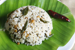 Rice upma is a rice dish from India Stock Image