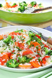 Rice  with vegetable Stock Photo