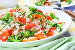 Rice  with vegetable Stock Image