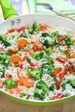 Rice  with vegetable Stock Images