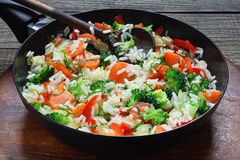 Rice with vegetable Royalty Free Stock Photography