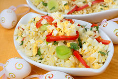 Rice with vegetable and egg Royalty Free Stock Images