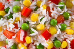 Rice with vegetable. food background Stock Images