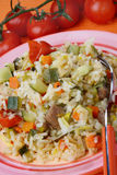 Rice with vegetable mix Royalty Free Stock Photography