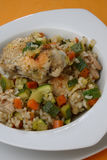 Rice with vegetable mix Stock Photos