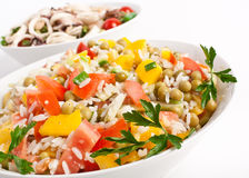 Rice and Vegetable Salad Stock Photo