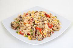 Rice with vegetable Royalty Free Stock Image