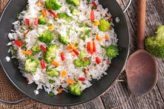 Rice and vegetable Royalty Free Stock Photography
