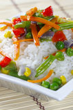 Rice with vegetables. Stock Photography