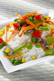 Rice with vegetables. Stock Images