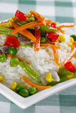 Rice with vegetables. Royalty Free Stock Photo