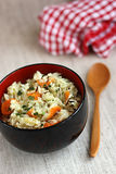 Rice and vegetables Stock Images