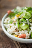 Rice with vegetables. In a plate Stock Images
