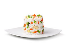 Rice and vegetables Stock Photos