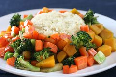 Rice & vegetables Stock Photos