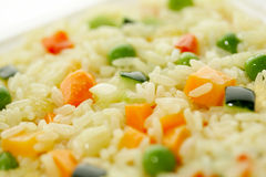 Rice & Vegetables Stock Photo