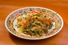 Rice with vegetables Stock Images