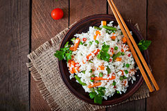 Rice with vegetables Stock Photos