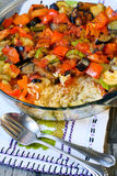 Rice and vegetables bake Royalty Free Stock Image