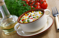 Rice with vegetables Stock Photo