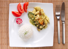 Rice with vegetables and chicken Royalty Free Stock Photos