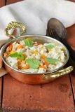 Rice with vegetables cooked in Indian style Royalty Free Stock Images