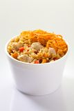 Rice with vegetables and meat Stock Images