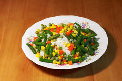 Rice, vegetables, risotto - healthy feed Royalty Free Stock Photography