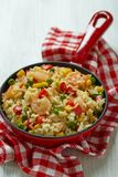 Rice with vegetables and shrimps Royalty Free Stock Images