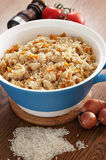 Rice with vegetables and spices Royalty Free Stock Photos