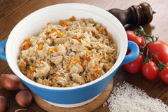 Rice with vegetables and spices Stock Photos