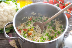 Rice and vegetables Royalty Free Stock Photo