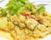 Rice vermicelli Crab in Curry Powder / food Royalty Free Stock Photos