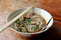 Rice vermicelli with pork Stock Photo