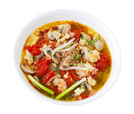 Rice Vermicelli Seafood Soup Stock Photo