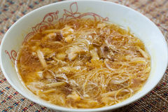 Rice vermicelli soup with mushroom Stock Photo