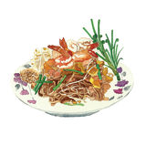 Rice vermicelli spicy salad Royalty Free Stock Photos
