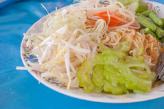 Rice vermicelli thai foods. Rice vermicelli are thin noodles made from rice and are a form of rice noodles stock images
