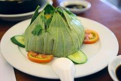 Rice w lotosowym liściu Fotografia Stock