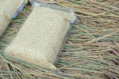 Rice w Próżniowym plastikowym worku Obraz Royalty Free
