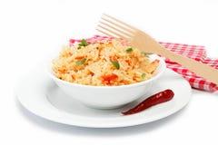 Rice w pucharze na biel. Zdjęcia Royalty Free