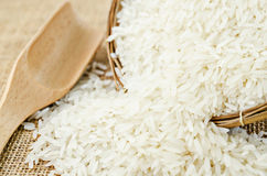 Rice in weave basket. Stock Photography